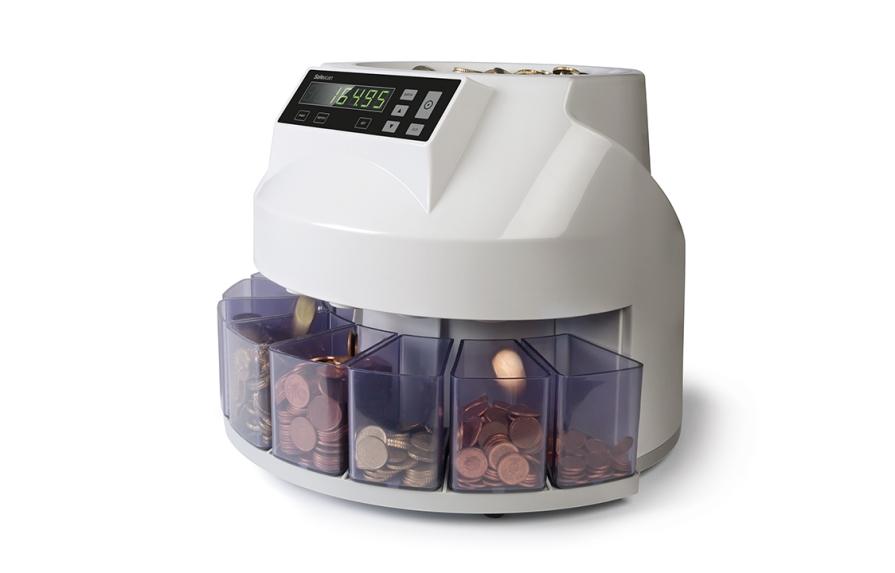 Münzzähler und Sortierer für gemischte Münzen
