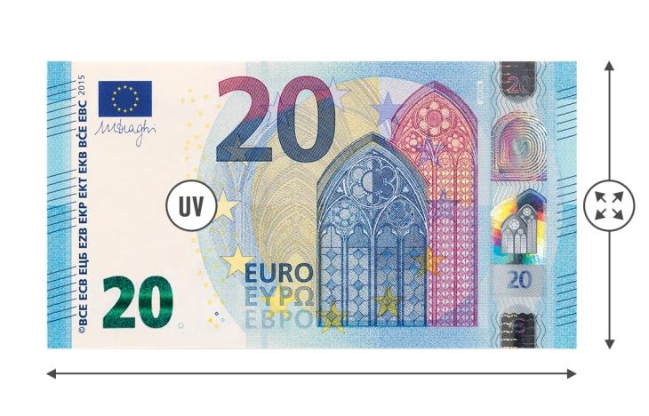 Compteuse de billets 2610 - Détection faux billets UV Taille
