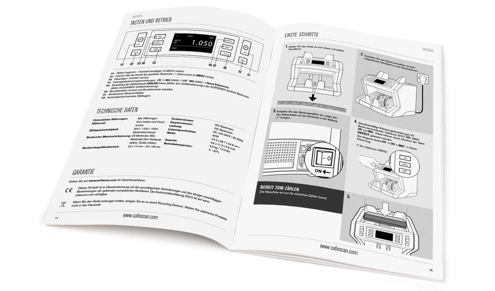 Geldzählmaschine - Safescan 2610 | Safescan.com