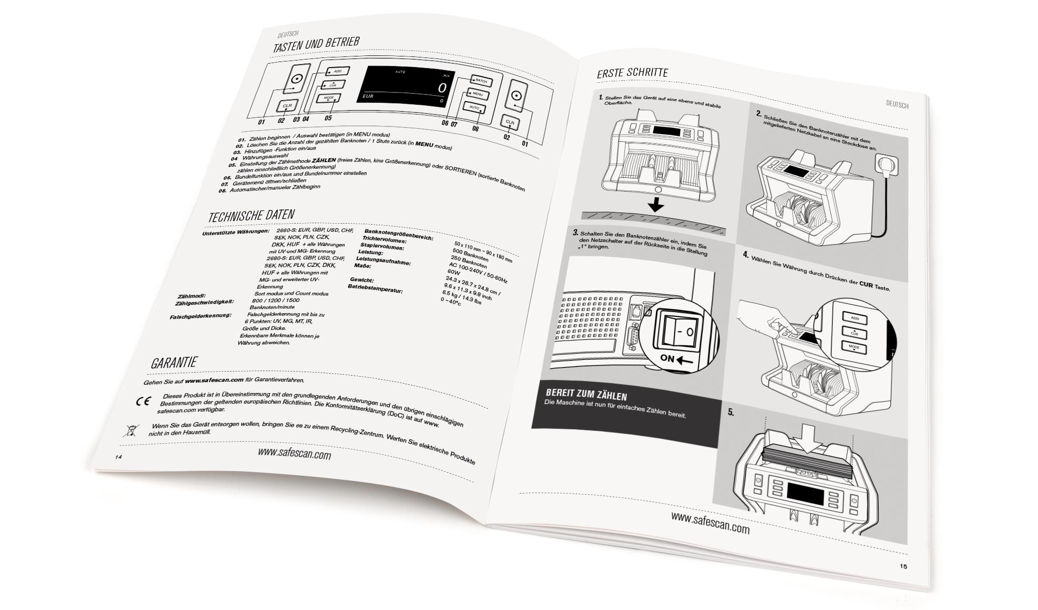 Geldzählmaschine - Safescan 2660-S | Safescan.com
