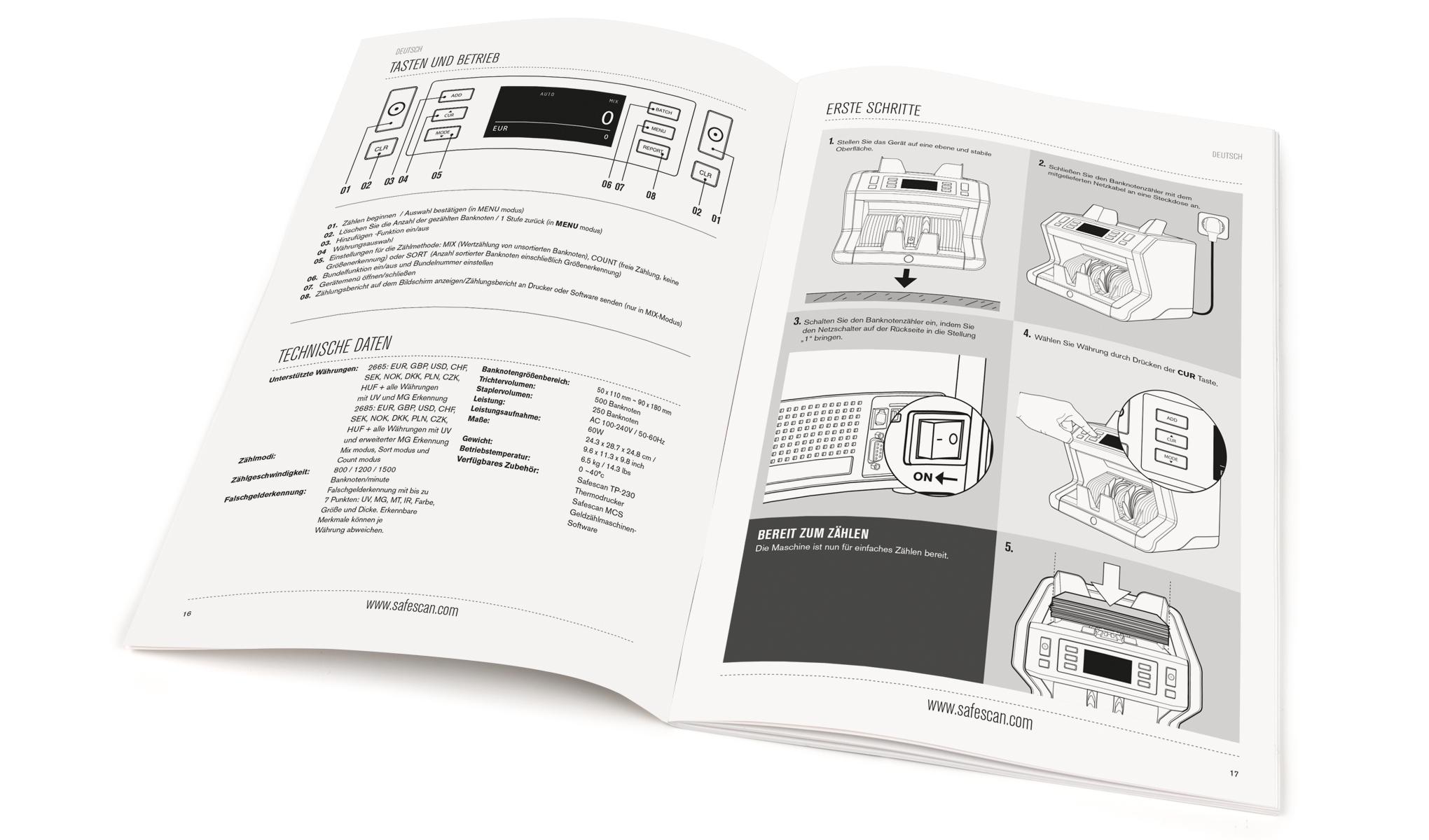 Geldzählmaschine - Safescan 2685-S   Safescan.com