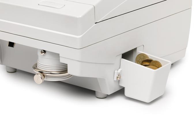 Aussortieren-Funktion für aufgefangene Münzen mit einer anderen Größe oder Dicke