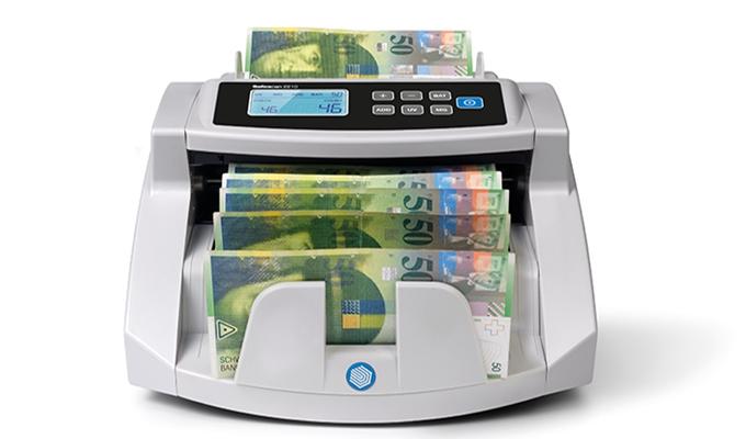 Zählt bis zu 1.000 Geldscheine pro Minute