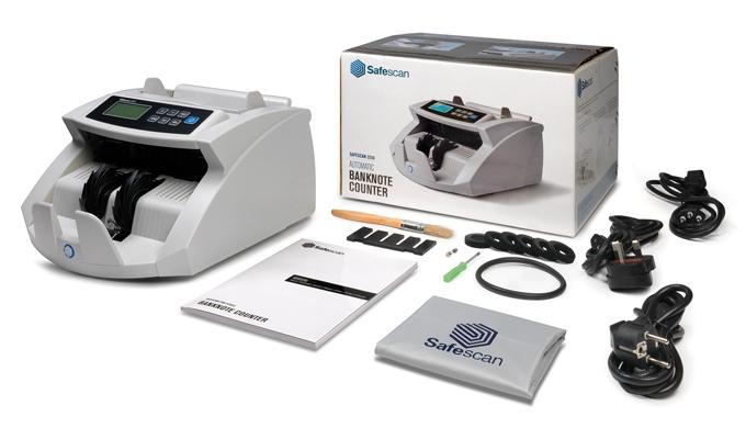 Dans la boîte: Safescan2210, adaptateur secteur, manuel d'utilisation, kit de maintenance