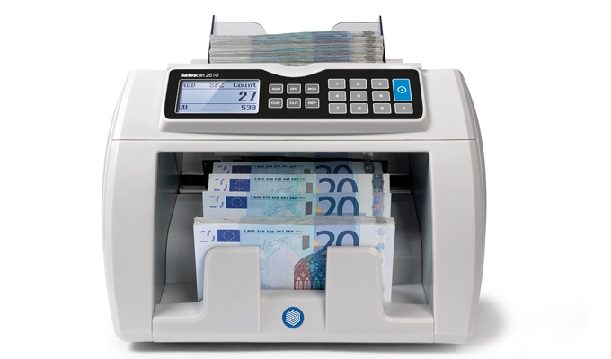 Adjustable counting speed - 800, 1.200 or 1.500 banknotes per minute