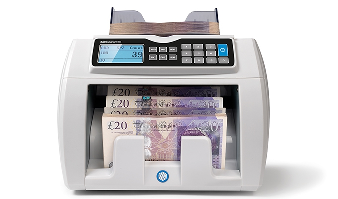 Adjustable counting speed - 800, 1,200 or 1,500 banknotes per minute
