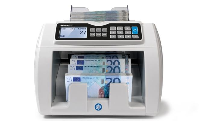 Aanpasbare telsnelheid: 800, 1.200 of 1.500 bankbiljetten per minuut