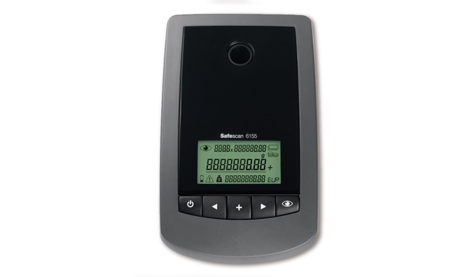 Clear LCD display and function key pad