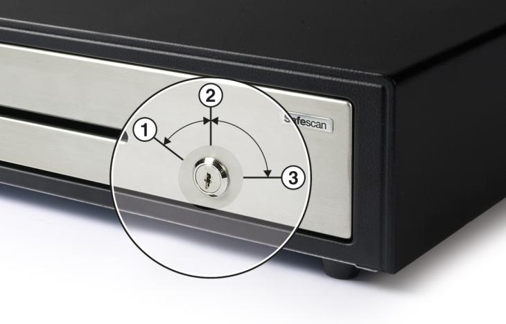 Tiroir caisse HD-4141S - Verrouillage robuste à 3 positions