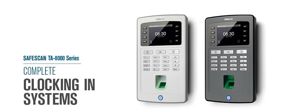 Safescan TA 8000 series schuin