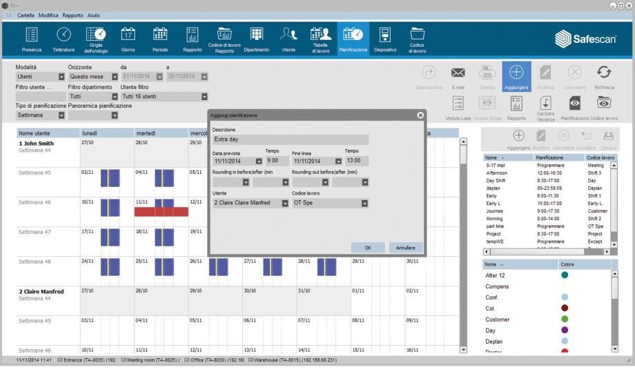 Software di timbratura ta safescan for Software di pianificazione del garage